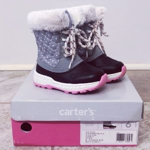 Carter's Toddler Girls Snow Boots, size 6, EUC